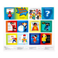 "Sarah Frederking Super Heroes 35"" Book Panel Multi"