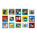 "Sarah Frederking Super Heroes Blocks 25"" Panel Multi"