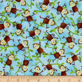 Jungle Camp Monkeys On Vines Blue