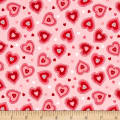 Riley Blake Kewpie Love Heart Pink