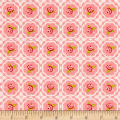 Riley Blake Hello Gorgeous Rose Grid Pink