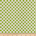 Riley Blake Sew Cherry 2 Circle Green