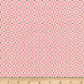 Riley Blake Sew Cherry 2 Leaf Pink