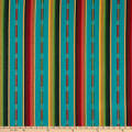 Laura & Kiran Southwest Stripes Sundance Turquoise Multi