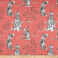 Premier Prints Asian Toile Scarlet Slub