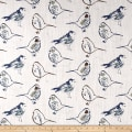 Premier Prints Bird Toile Regal Blue