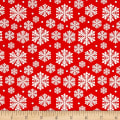Penguin Parade Snowflake Red