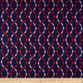 Cloud 9 Organic Holding Pattern Barkcloth Twist of Fate Orange