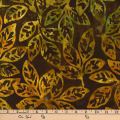 Kaufman Batiks Cornucopia 8 Leaf Stem Nature