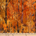 Kaufman Batiks Cornucopia 8 Tree Trunks Harvest