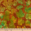Kaufman Batiks Cornucopia 8 Large Leaves Harvest