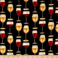 Vintage Wine Glasses Black