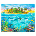 "Kaufman Digital 35"" Panel Tropical Scenic Ocean"
