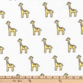 Kaufman Little Safari Flannel Giraffes Yellow