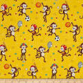 Good Sports Playing Monkeys Yellow