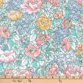 Kaufman London Calling Lawn Flowers Pastel