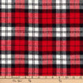 Kaufman Highlander Flannel Plaid Red