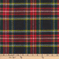Kaufman Highlander Flannel Plaid Black