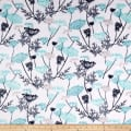 Shannon Minky Cuddle Queen Anne's Lace Teal