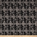 Techno Scuba Knit Ikat Black/Ivory