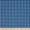Snow Much Fun Holiday Houndstooth Midnight Blue