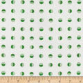 Moda Red Dot Green Dash Brushed Cottons Half Snowballs Winterwhite Green