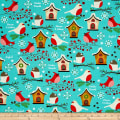 Moda Jingle Birds Birds & Houses Bluebird