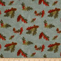 Moda Fall Impressions Flannel Oak Print Juniper