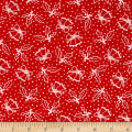 Moda Merry Scriptmas Holly Christmas Red