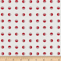 Moda Red Dot Green Dash Half Snowballs Winter White/Red