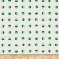 Moda Red Dot Green Dash Half Snowballs Winter White/Green