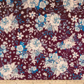 Art Gallery Soulful Jersey Knit Floral Universe Plum