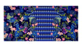 Telio Paola Pique Double Knit Border Floral Black/Blue/Pink
