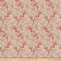 Fabricut Brovina Floral Linen Blend Coral