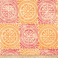 Barry Dixon Chariot Wheels Linen Blend Mango & Magenta