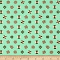 Tula Pink Holiday Homies Peppermint Stars Pine