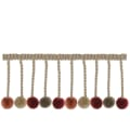"French General 3.5"" Lautrec Ball Fringe Rouge"