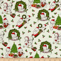 Riley Blake Kewpie Christmas Main Cream
