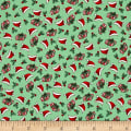 Riley Blake Kewpie Christmas Ditzy Green