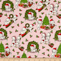 Riley Blake Kewpie Christmas Main Pink