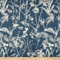 Lacefield Garden Party Linen Blend Basketweave Indigo Danish Linen