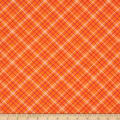 "Riley Blake Bee Backings and Borders 108"" Quilt Back Plaid Orange"