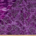 Double Face Quilted Indian Batik Abstract Dots Purple