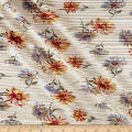 Crinkle Tricot Knit Floral Light Sand/Curry