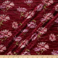 Crinkle Tricot Knit Floral Wine/Orchid