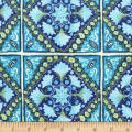Michael Miller Peacock Pavillion Turkish Tile Sapphire
