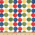 Michael Miller Minky Retro Zoo Zoo Dots Multi