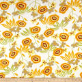 French Designer Jersey Knit Floral Yellow/Sage