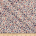 Italian Designer Crepe Abstract Dots Ivory/Taupe/Pink
