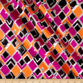 Italian Designer Silk 8MM Shirting Diamond Print Pink/Orange/Balck